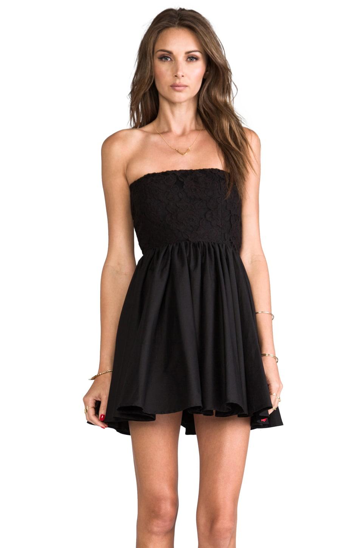Casper & Pearl Lux Strapless Dress in Black