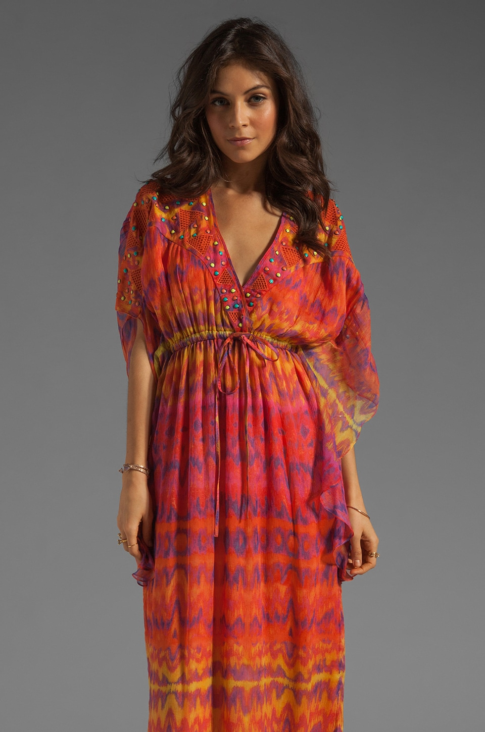 Catherine Malandrino Kaftan Dress in Surfer Print