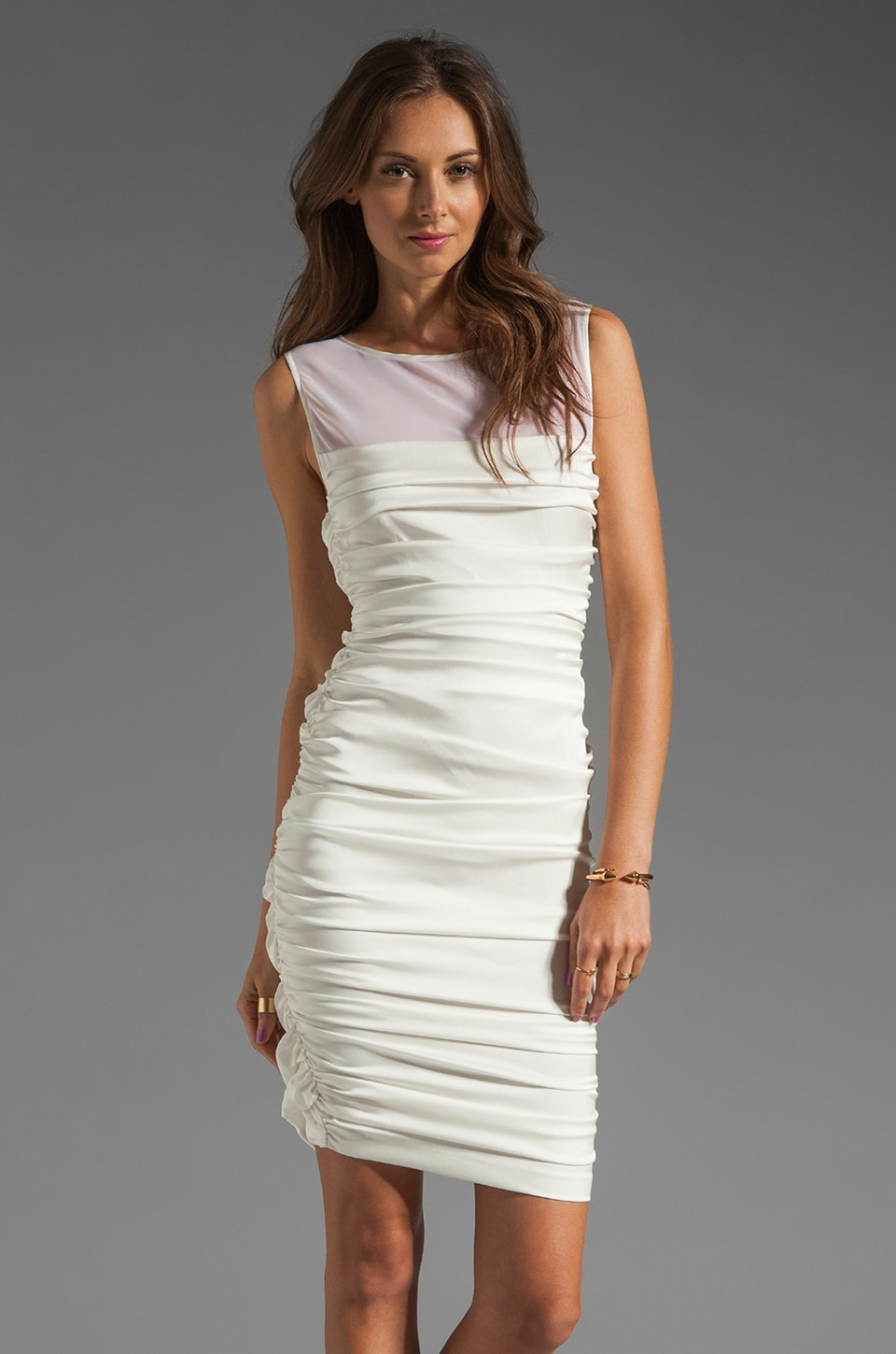 Catherine Malandrino Tank Dress in Ivory