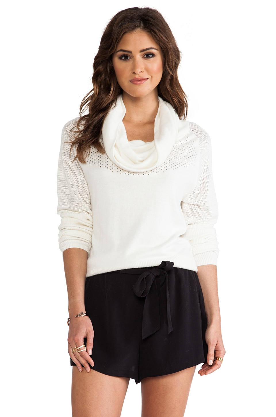 Catherine Malandrino Abeo Turtleneck Sweater in Ivory