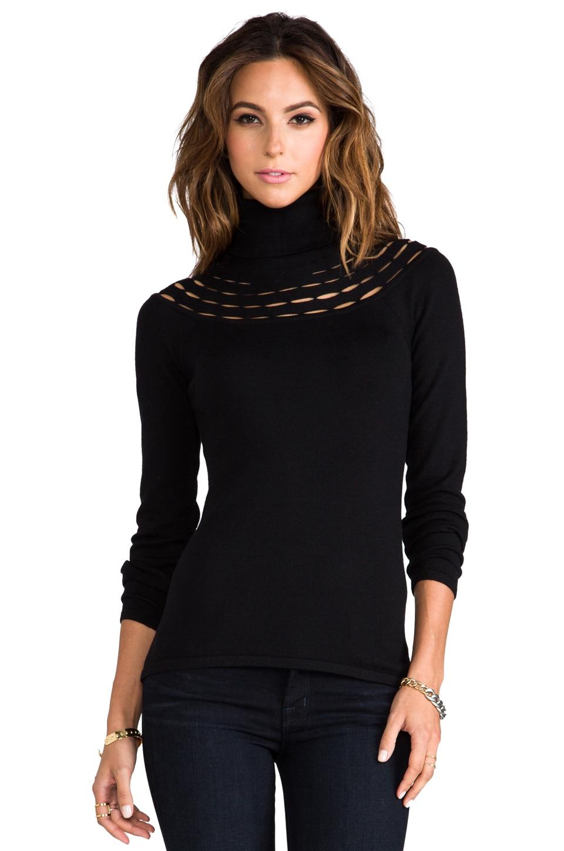 Catherine Malandrino Armelle Wool Turtleneck Sweater in Noir