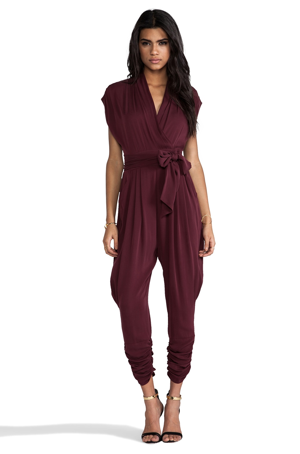 Catherine Malandrino Jumpsuit in Burgundy