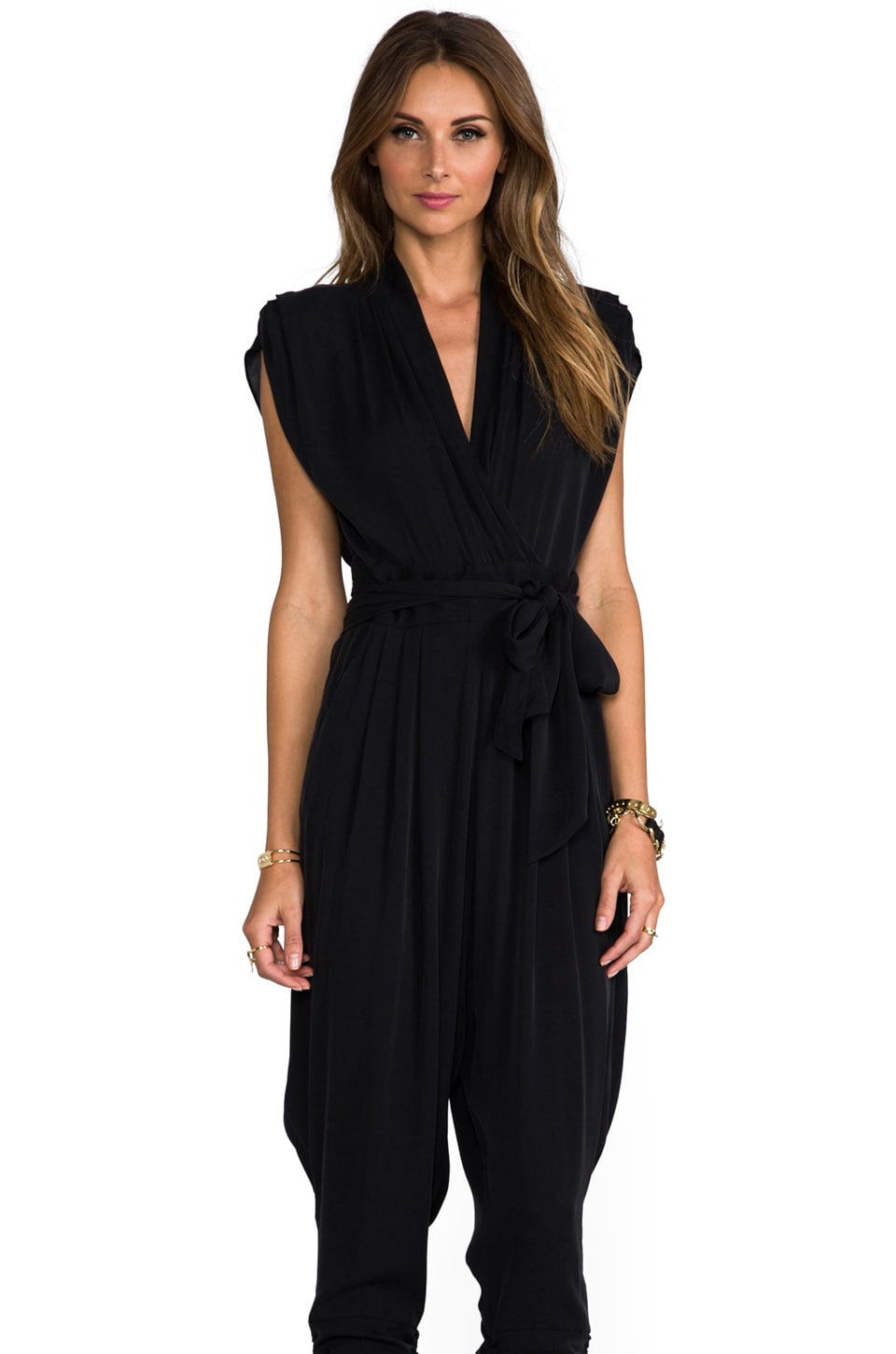 Catherine Malandrino Brigitte Favorites Jumpsuit in Noir