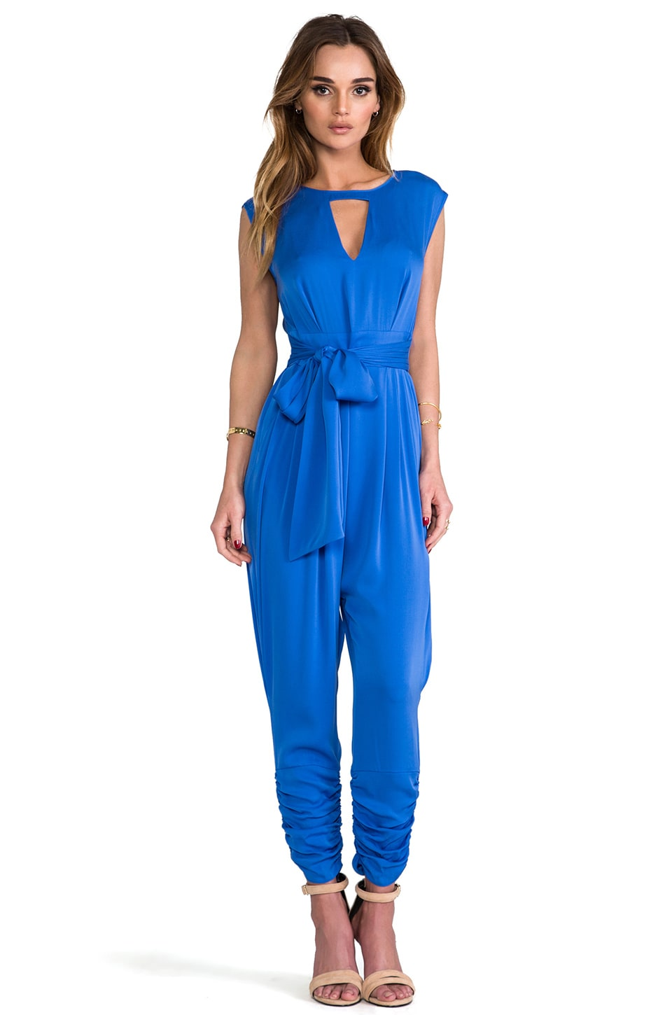Catherine Malandrino Carrie Jumpsuit in Cobalt