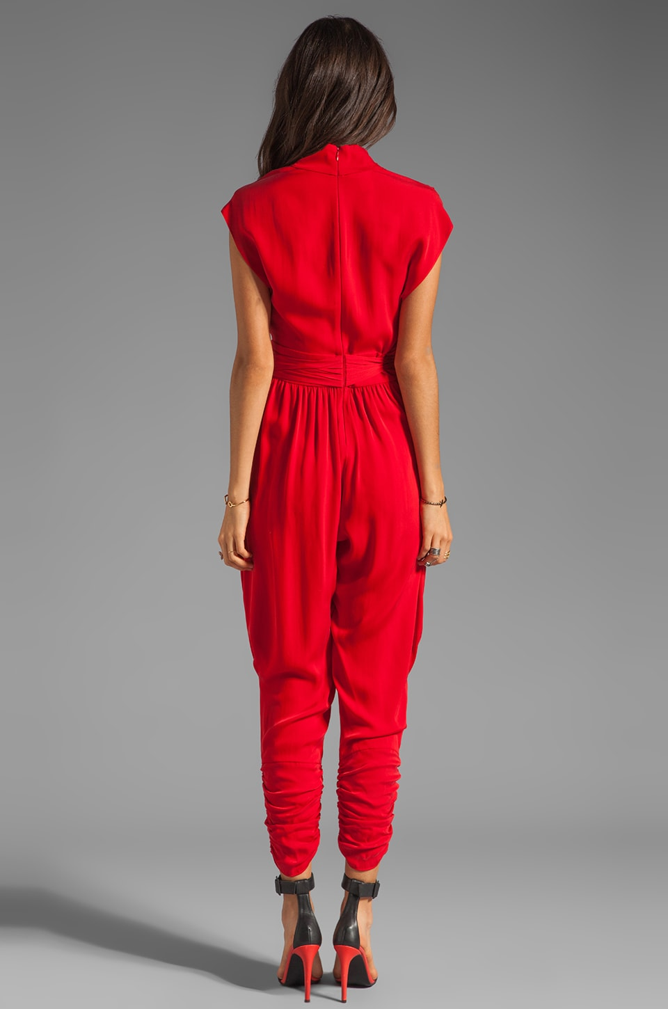 Catherine Malandrino Favorites Cap Sleeve Jumper in Scarlet