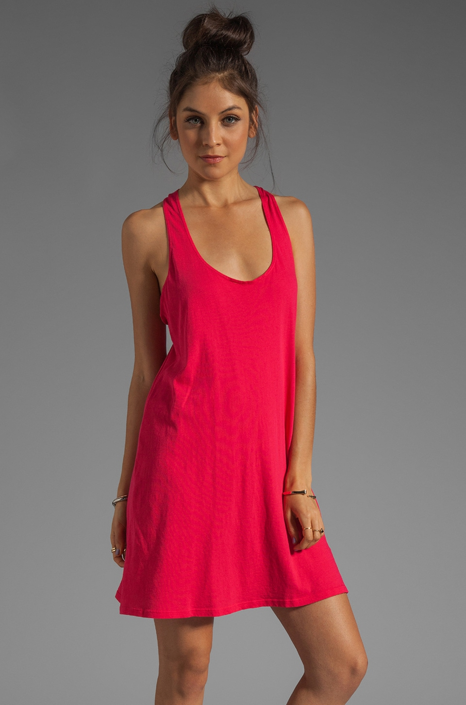 C&C California Tie Back Tank Dress in Ruby
