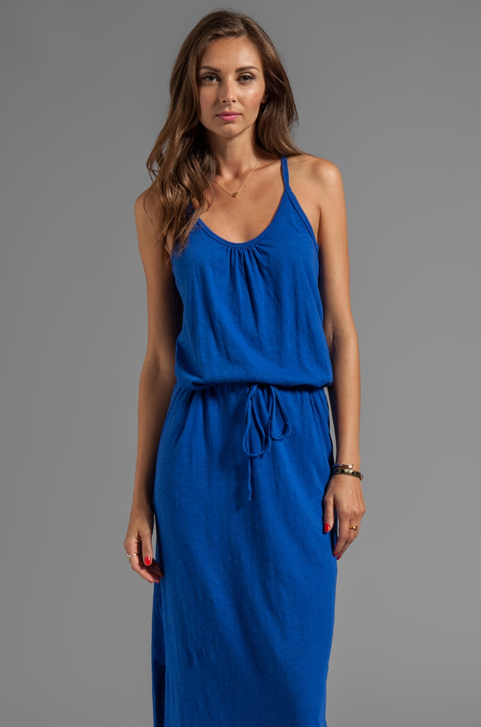 C&C California Slub Jersey Tank Maxi Dress in Mirage