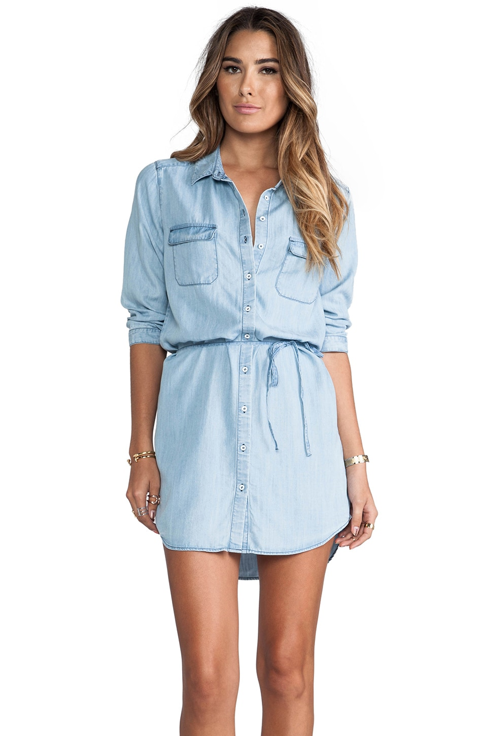 C&C California Chambray Dress in Chambray Multi