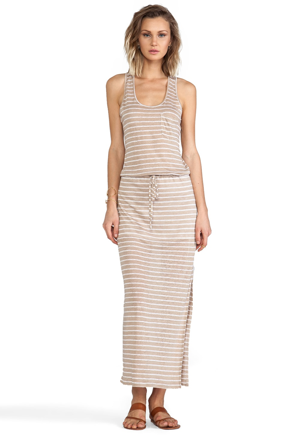 C&C California Racerback Maxi Dress in Dark Desert Sand