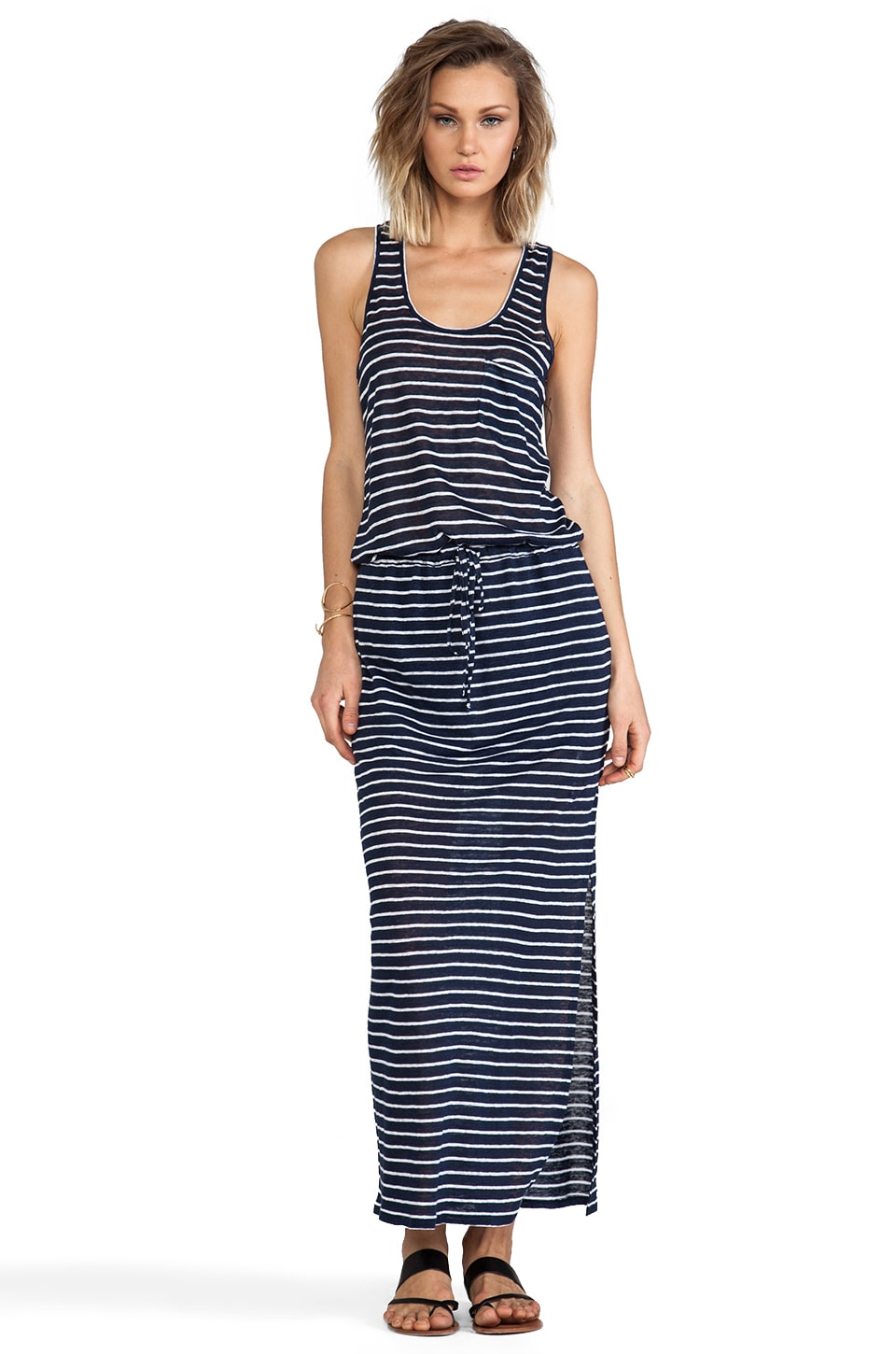 C&C California Racerback Maxi Dress in Navy