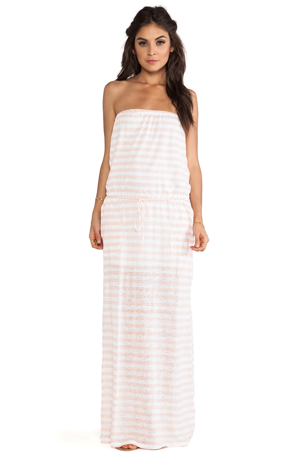 C&C California Striped Tube Maxi in Tropical Peach