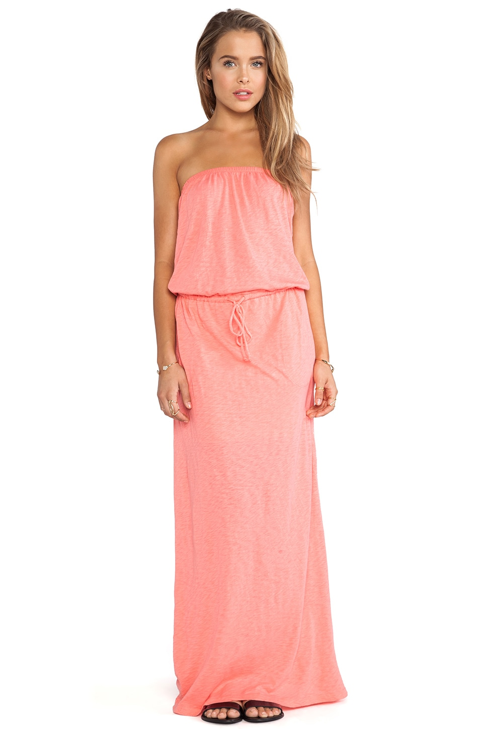 C&C California Maxi Dress in Gumball Pink