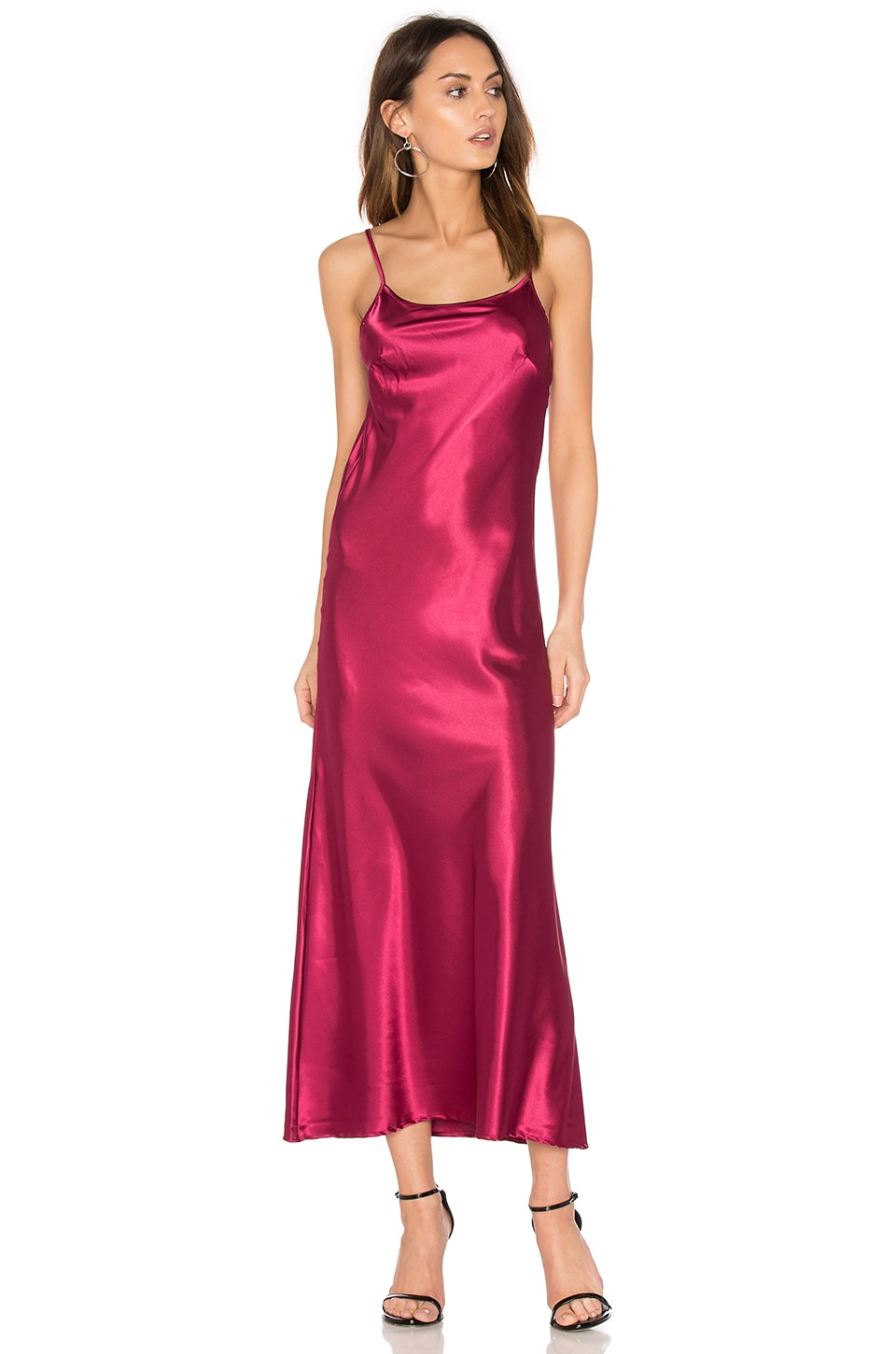 C&C California Erin Maxi Dress in Red Velvet