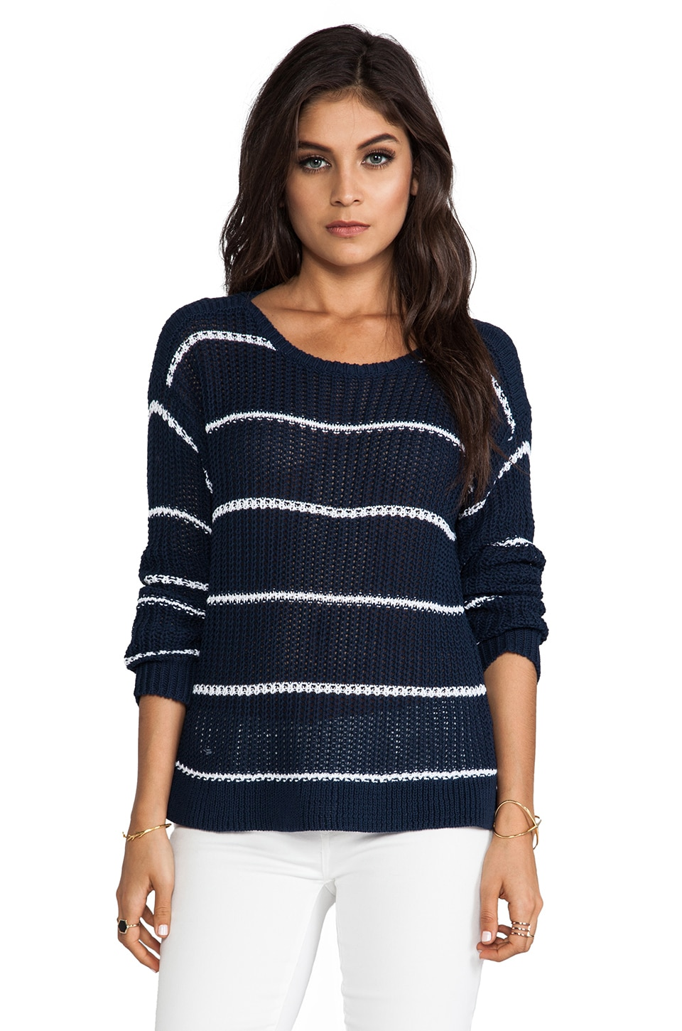 C&C California Boatneck Sweater in Navy