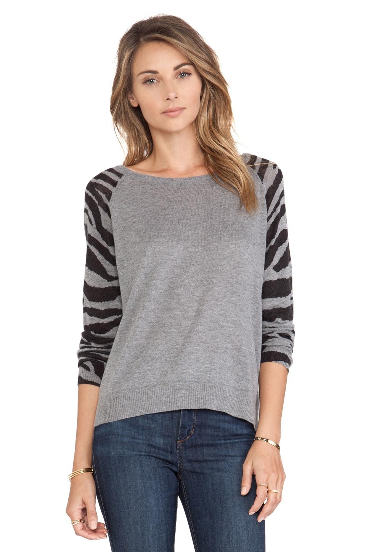 C&C California Animal Sleeve Sweater in Grey