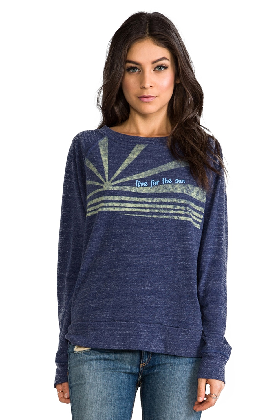 C&C California Live for the Sun Sweatshirt in Denim Blue