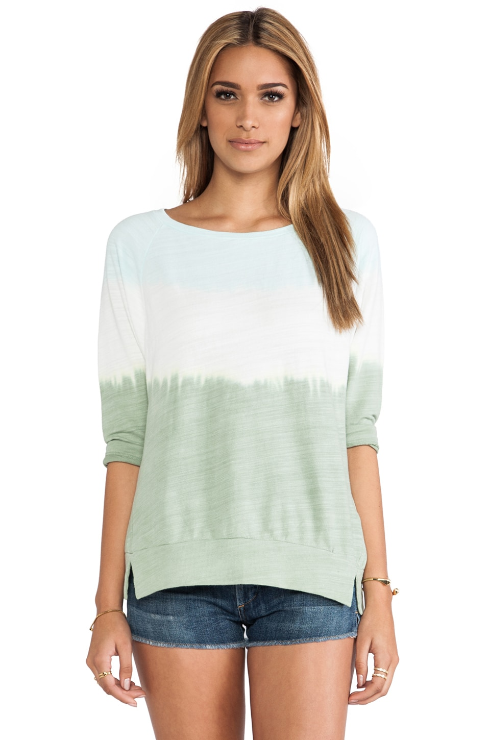 C&C California Dip Dye Sweatshirt in Clearwater