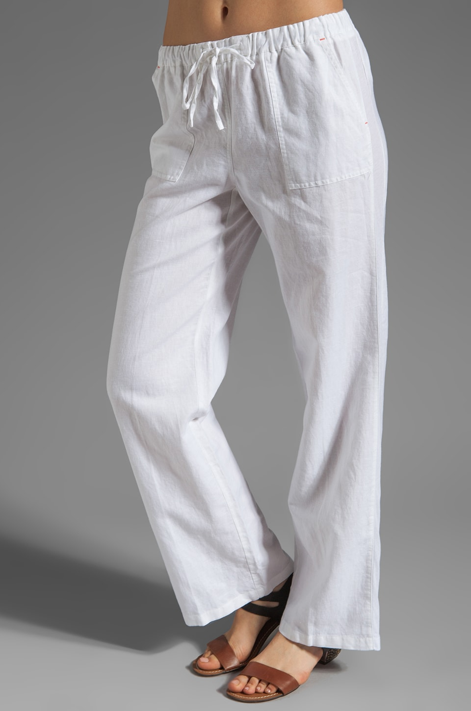 C&C California Linen Pant in White
