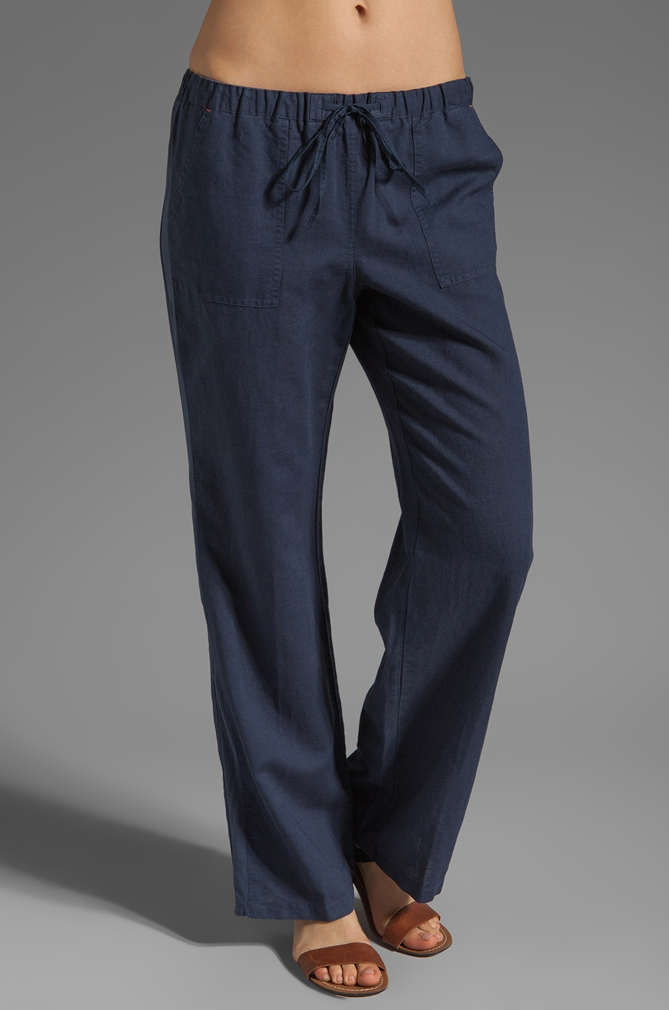 C&C California Linen Pant in Navy