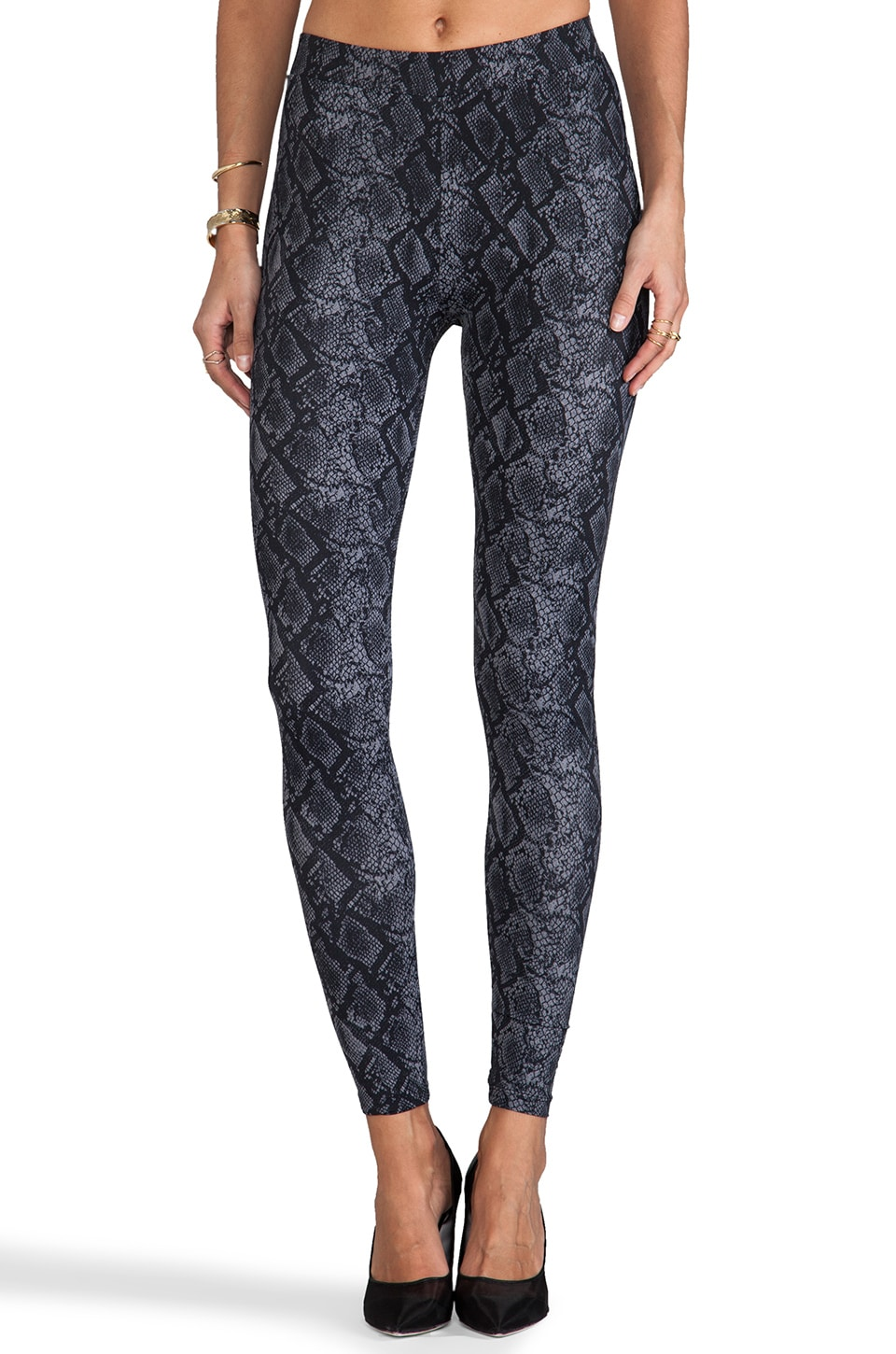 C&C California x Stephanie Printed Snake Legging in Sable