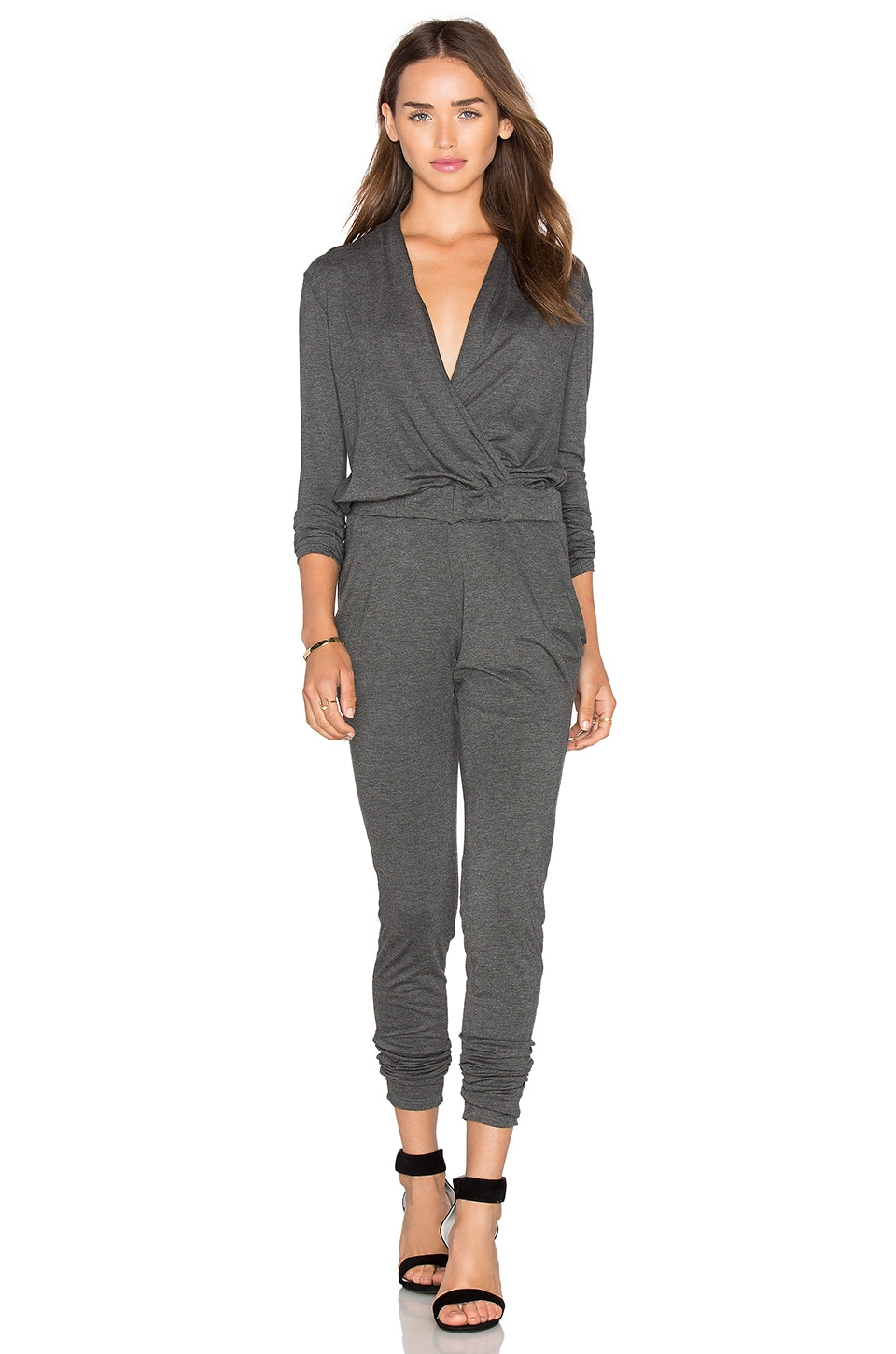 C&C California Ronnie Jumpsuit in Charcoal