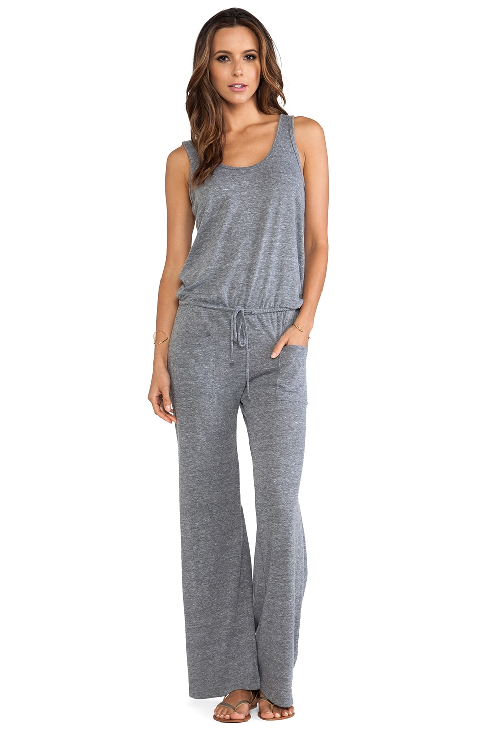C&C California Jumpsuit in Heather Grey