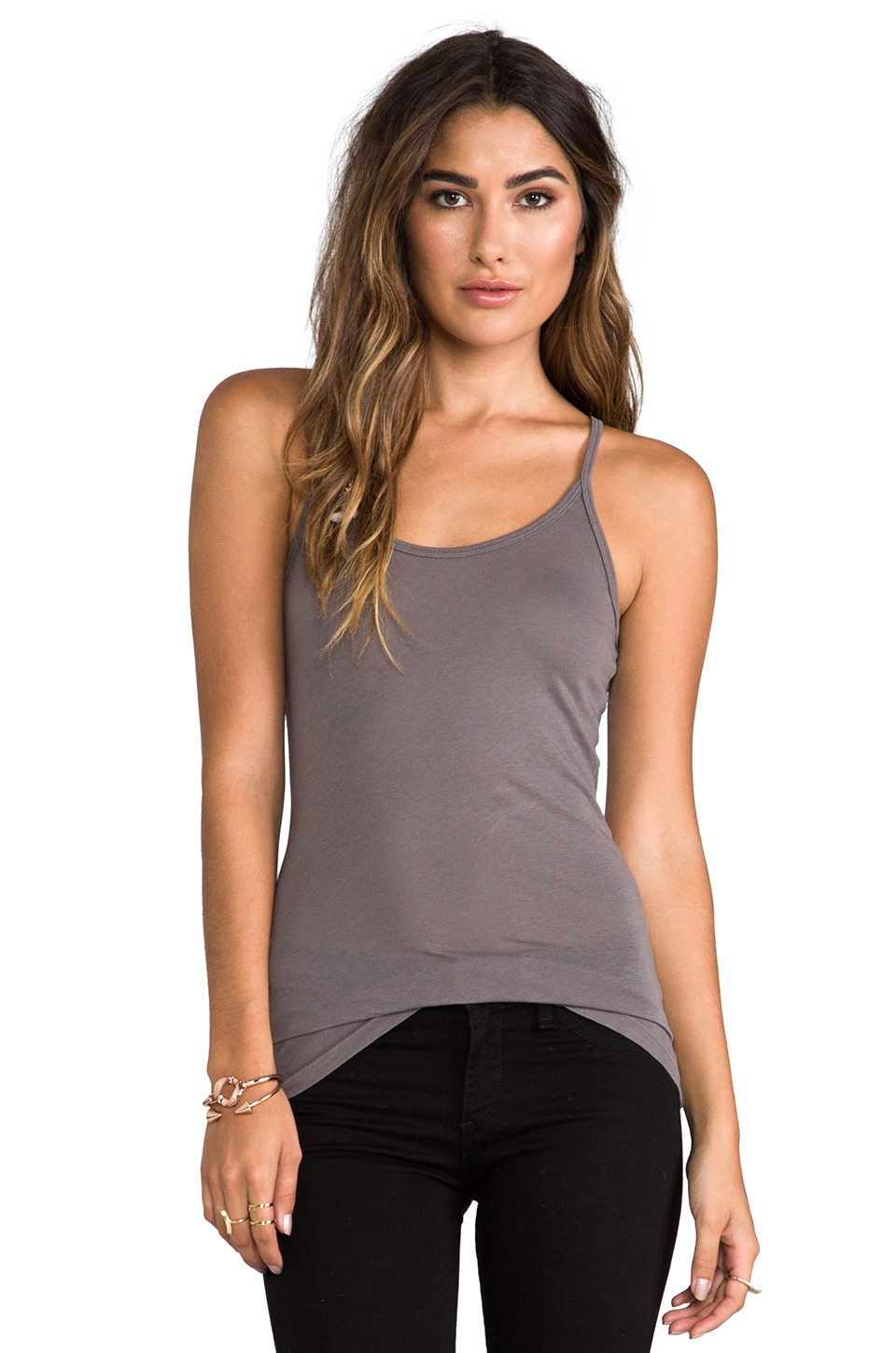 C&C California Vintage Classic Tank in Faded Black