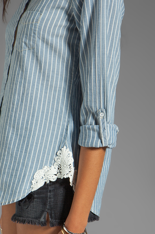 C&C California Stripe Shirt in Chambray Multi