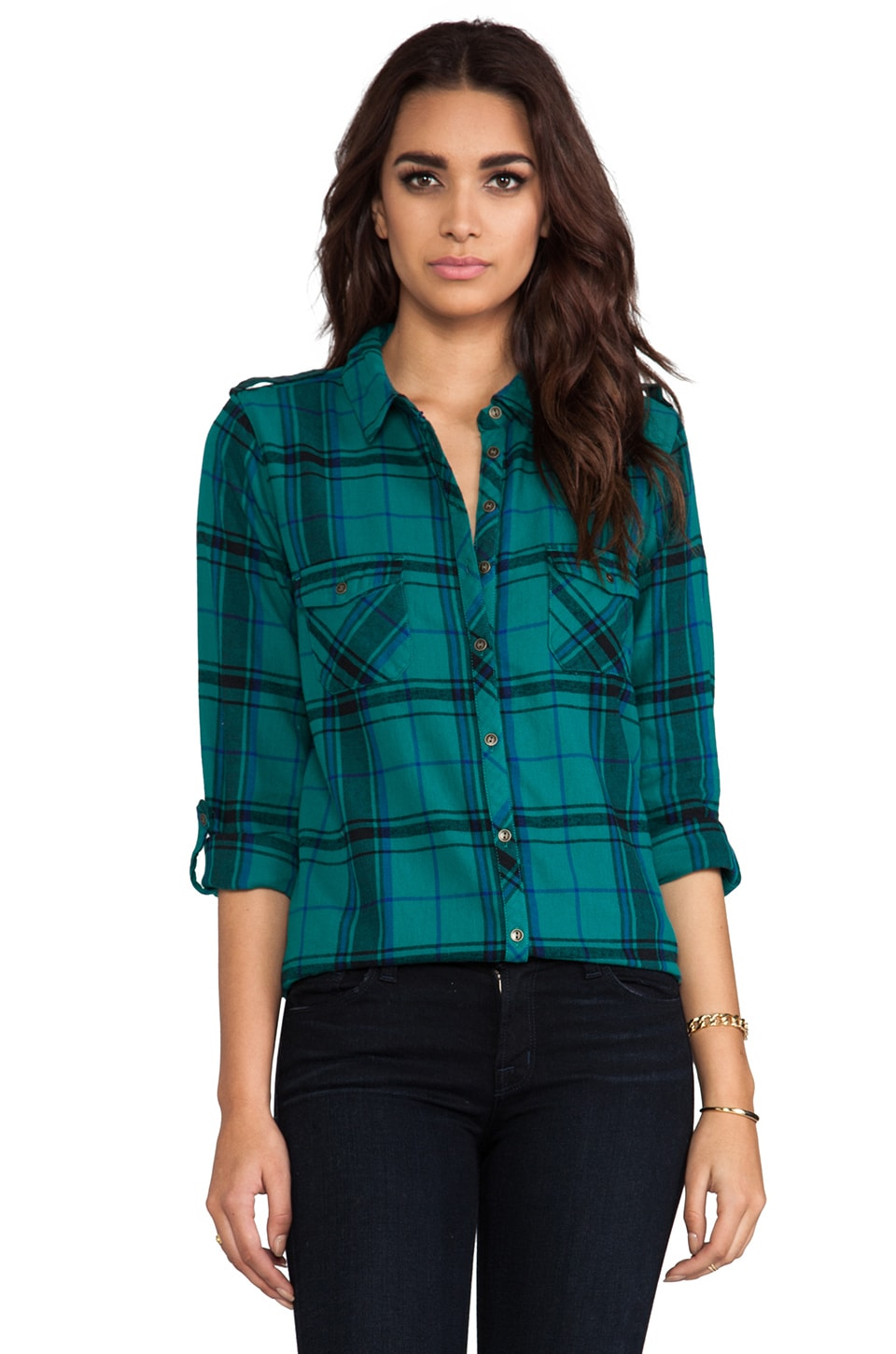 C&C California Heritage Flannel Button Down in Spruce
