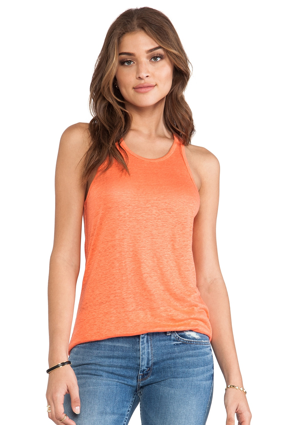 C&C California Racer Tank in Persimmon