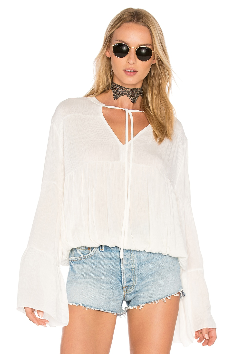 Bijoux Shirred Blouse by C&C California