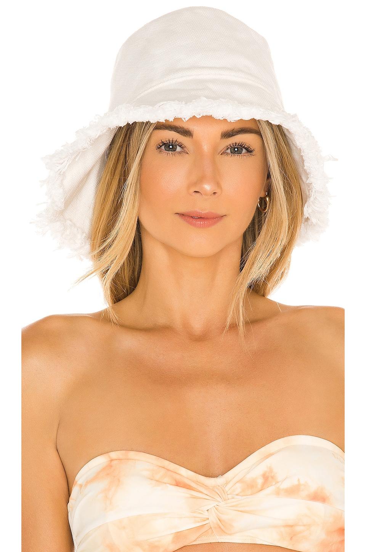 Casa Clara Evan Bucket Hat in White
