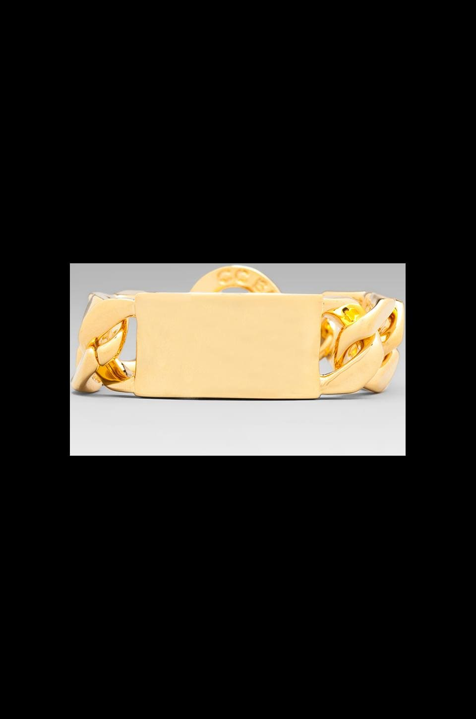 CC Skye Oversized ID Bracelet in Gold