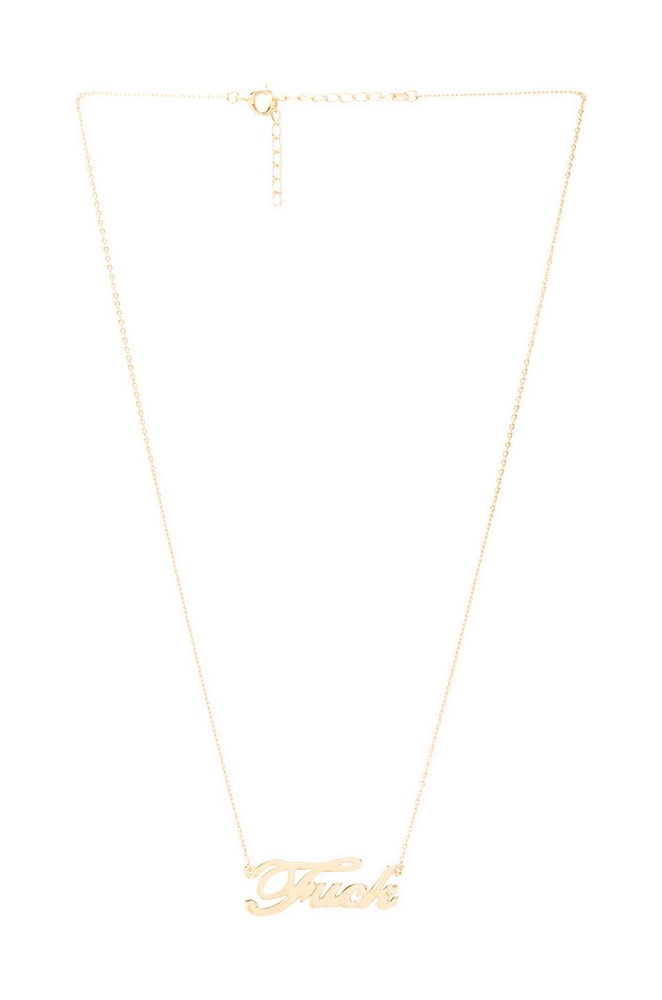 CC Skye F-U Necklace in Gold
