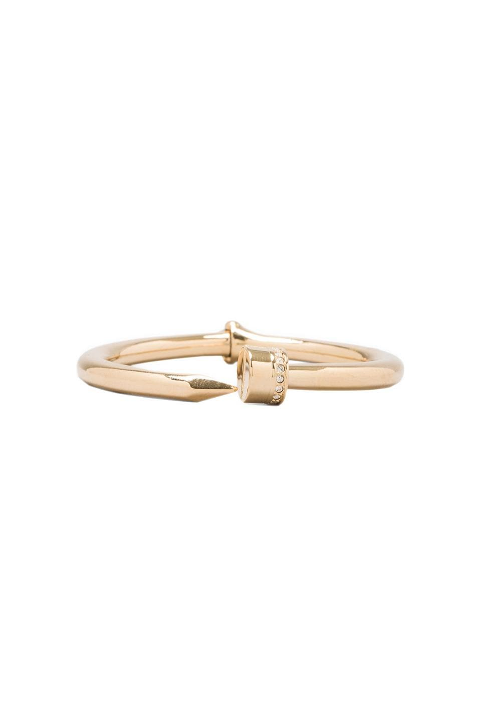 CC Skye Hinged Nail Bangle in Gold