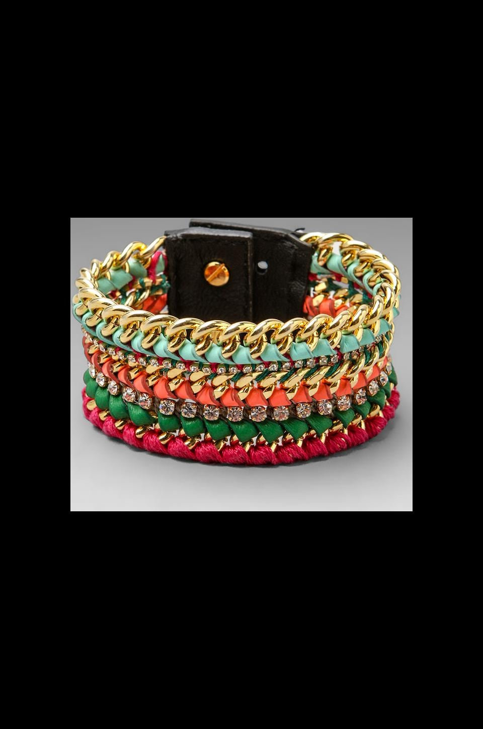 CC Skye Camp Skye Woven Bracelet Wide in Sunset Bright