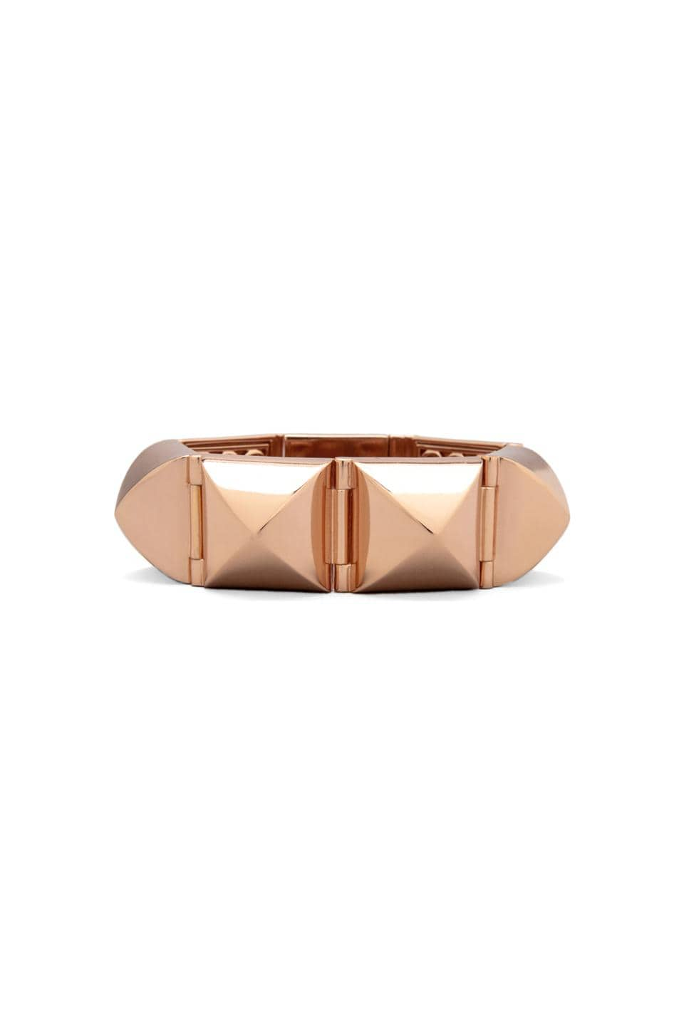 CC Skye Stud Hinged Bracelet in Rose Gold