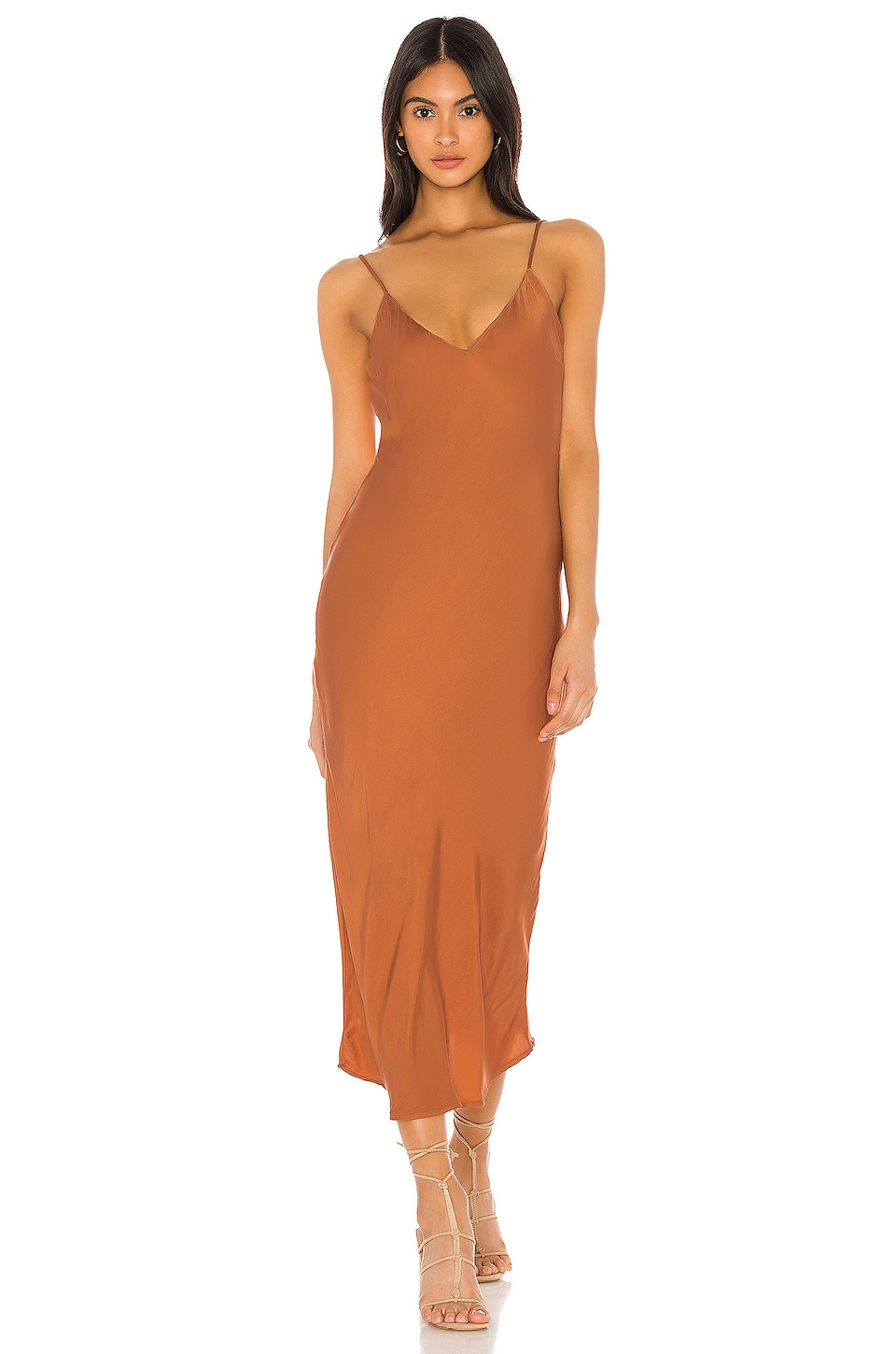 Cali Dreaming Vaea Slip Dress in Copper