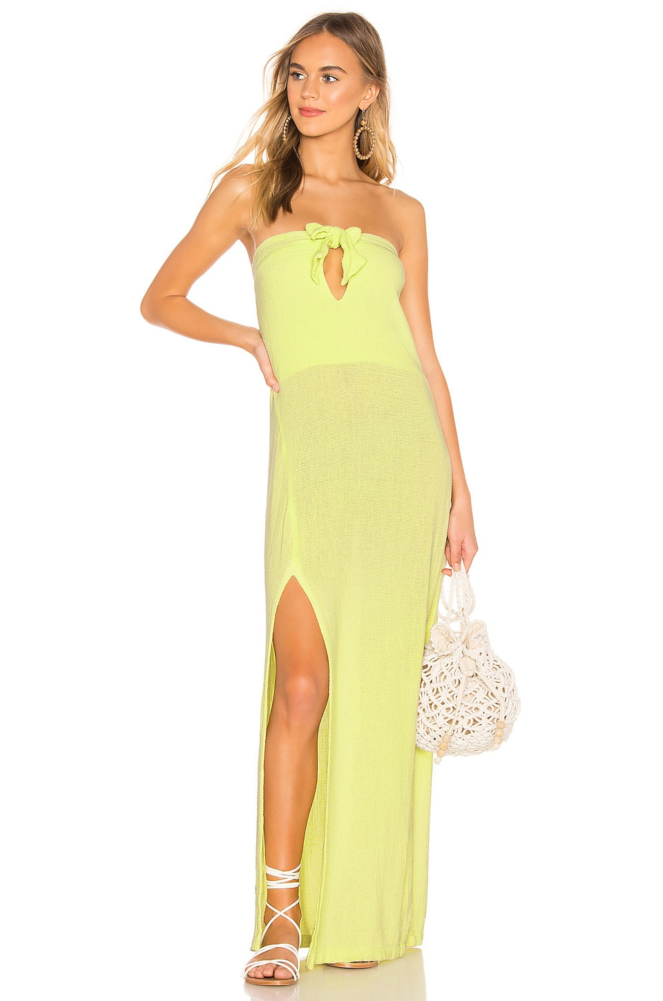 Cali Dreaming Obi Dress in Citrine