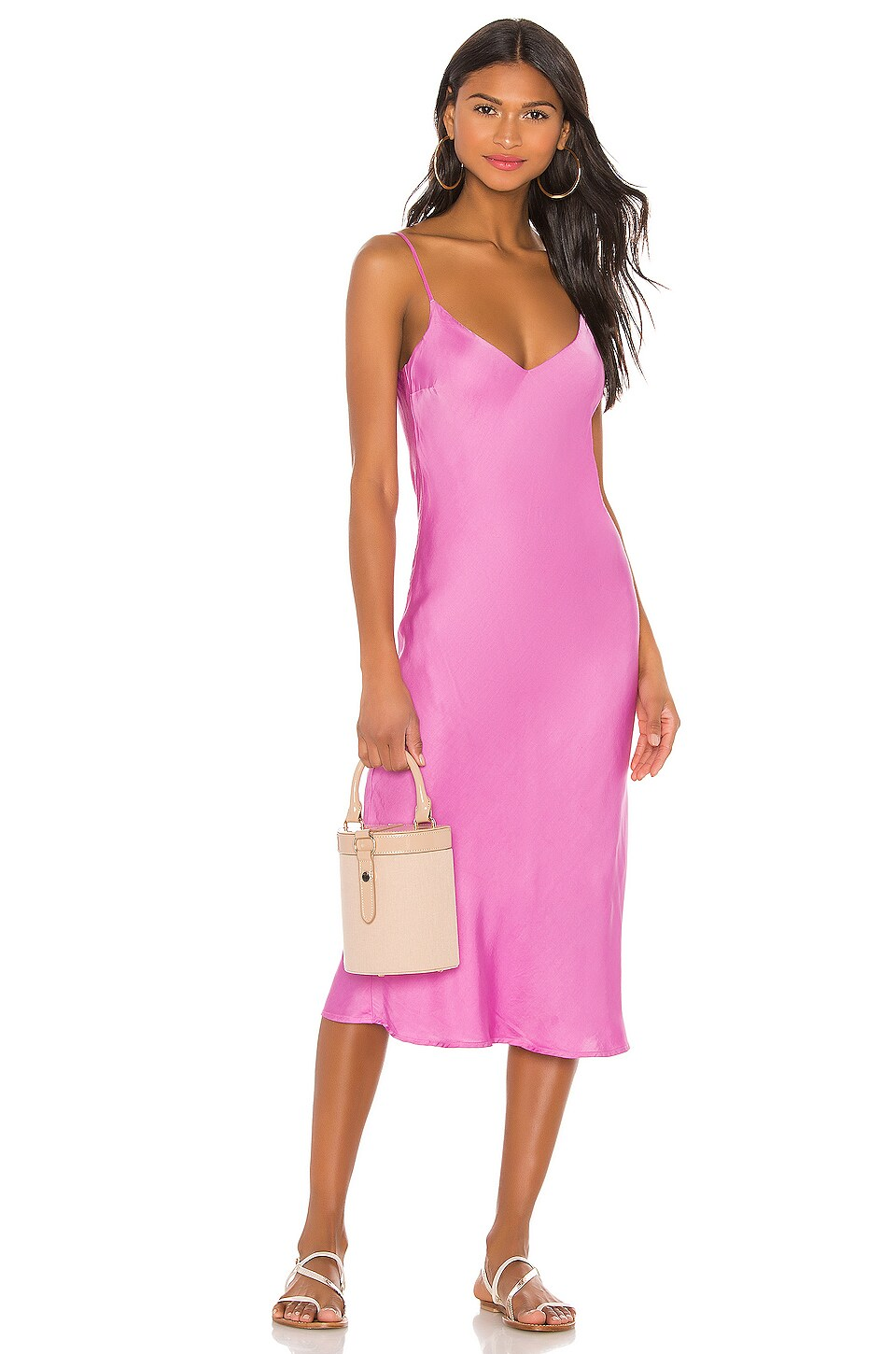 Cali Dreaming Vaea Slip Dress in Pink