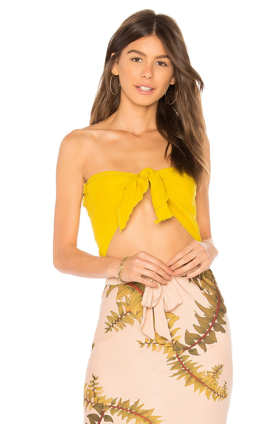 CALI DREAMING BOW TIE TOP