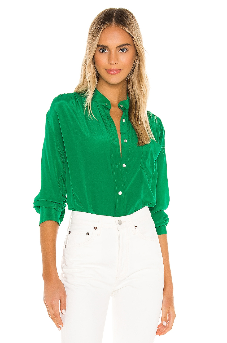 Cali Dreaming The Ace Shirt in Forrest Green