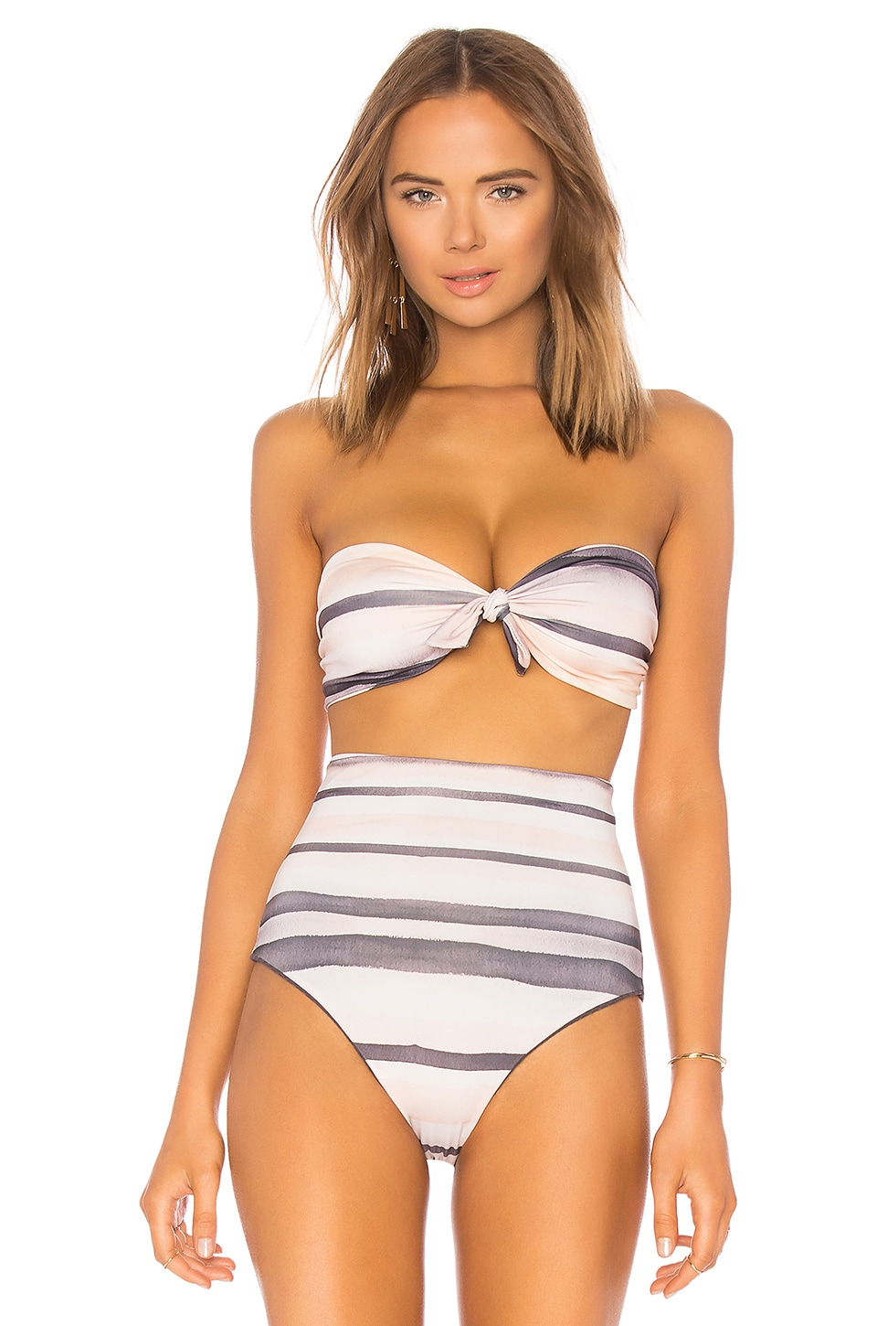 CALI DREAMING NUBBY BANDEAU TOP
