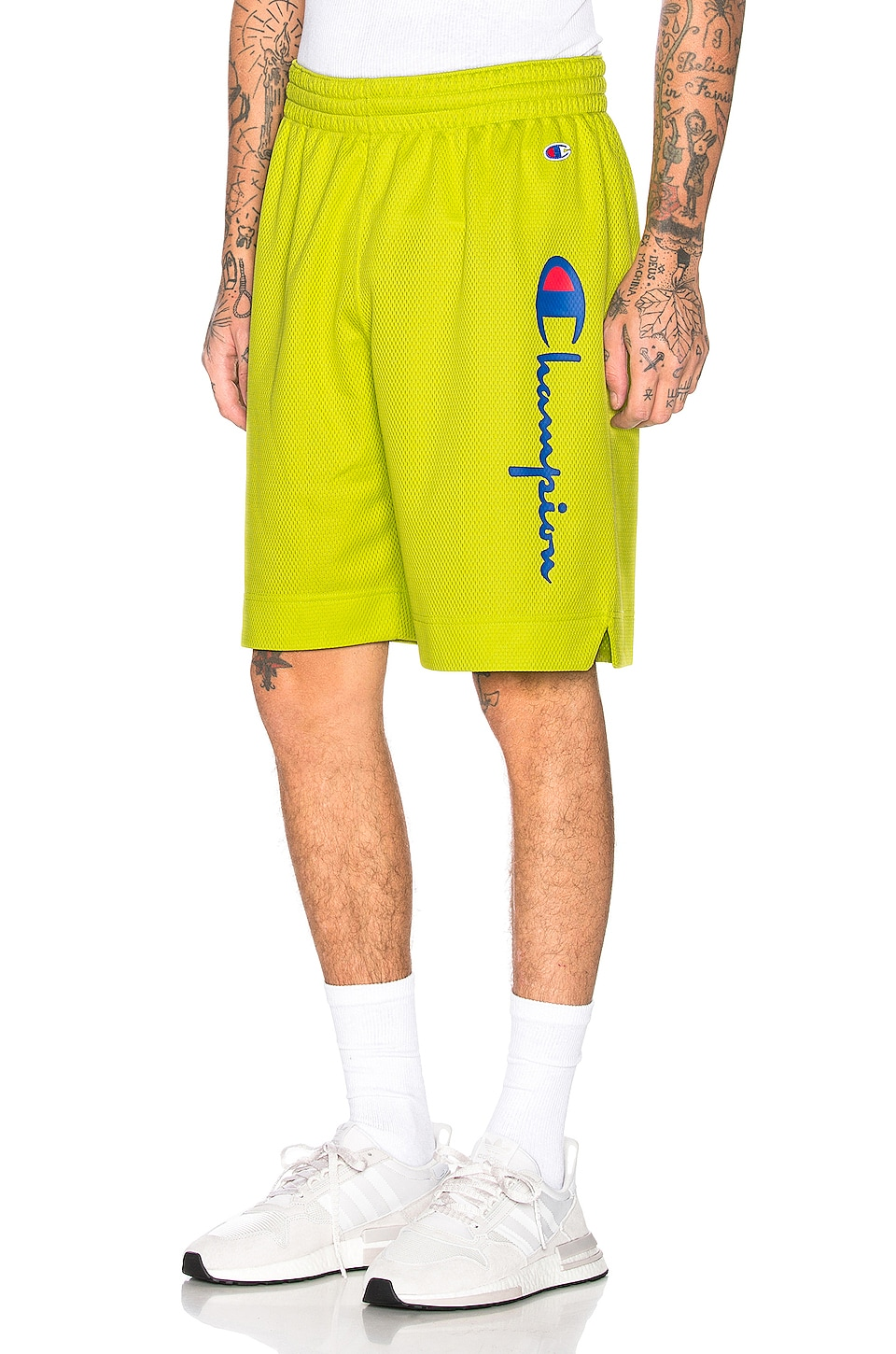 Champion Reverse Weave Champion Shorts in Green