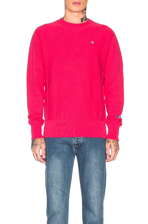 Champion Reverse Weave Champion Crewneck Sweatshirt in Aza