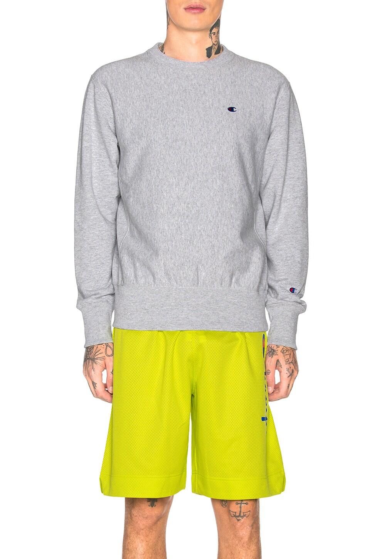 Champion Reverse Weave Champion Crewneck Sweatshirt in Grey