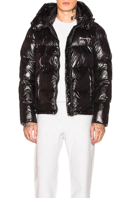 Hooded Weave Champion Puffer In Jacket Reverse BlackRevolve Fcl1JKT