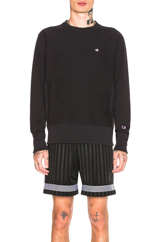 Champion Reverse Weave Crewneck Sweatshirt in Black