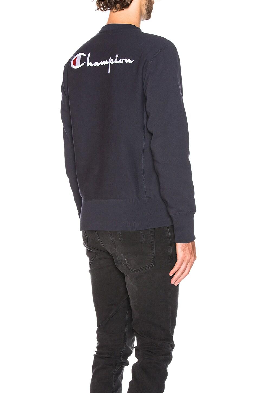Champion Reverse Weave Crewneck Sweatshirt in Navy