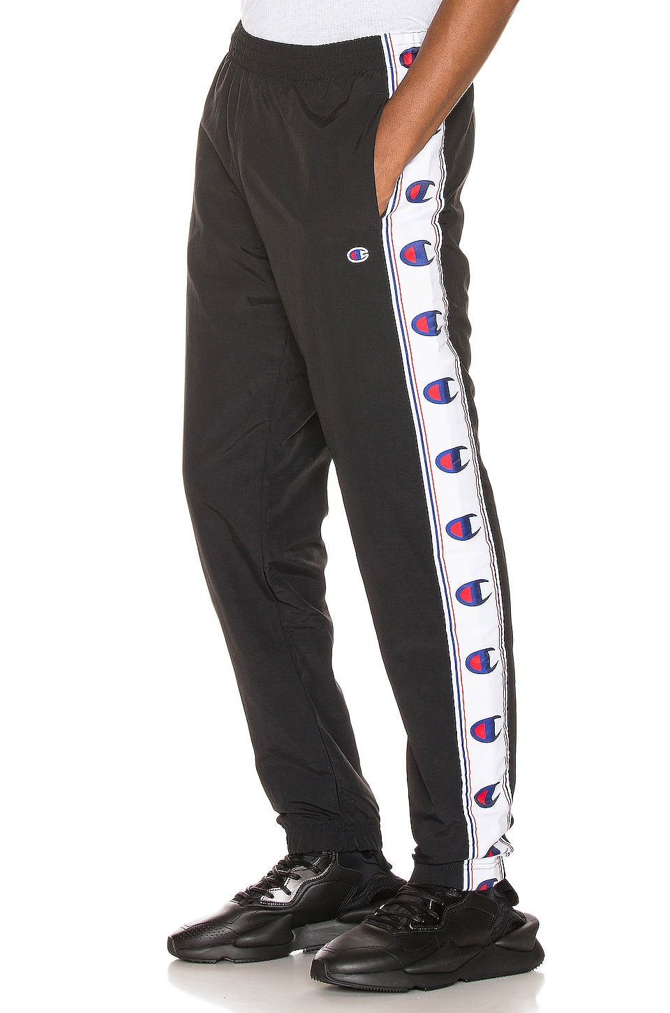 Champion Reverse Weave Elastic Cuff Pants in Black